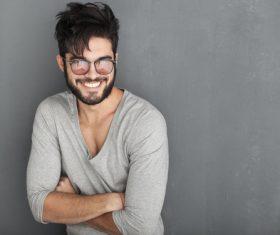 Glamour male smile Stock Photo 09