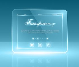 Glass transparent website template vector