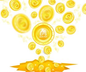 Golden coins shiny background vector 02