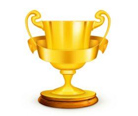 Golden cup trophy illustration vector 01