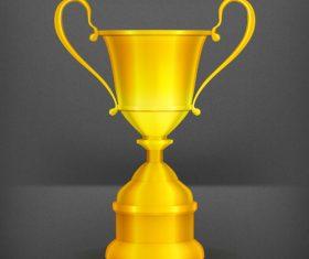 Golden cup trophy illustration vector 04