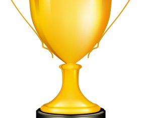 Golden cup trophy illustration vector 08