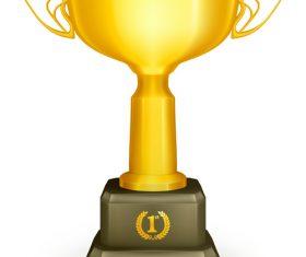 Golden cup trophy illustration vector 09