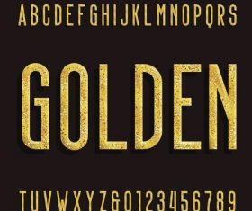 Golden number with alphabet vectors