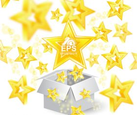 Golden stars shiny background vector 01
