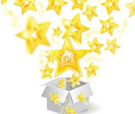 Golden stars shiny background vector 02