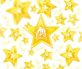 Golden stars shiny background vector 03