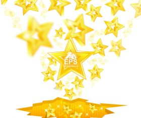 Golden stars shiny background vector 04