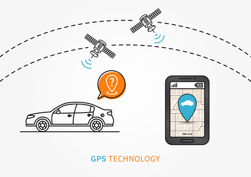 Gps technology app design vector