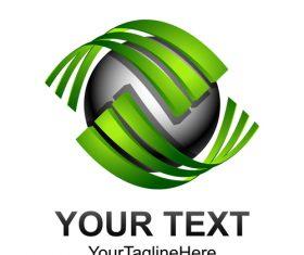 Green company logo design vector