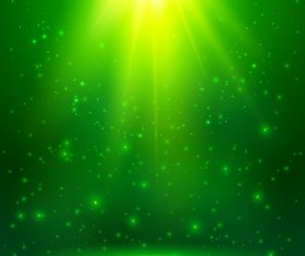 Green cosmic vector background