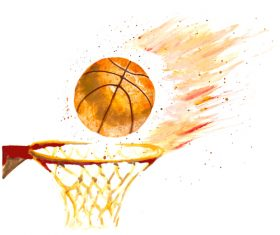 Grunge basketball design vector 01