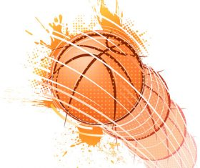 Grunge basketball design vector 02
