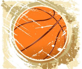 Grunge basketball design vector 03