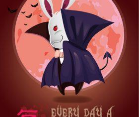 Halloween bunny illustration vector