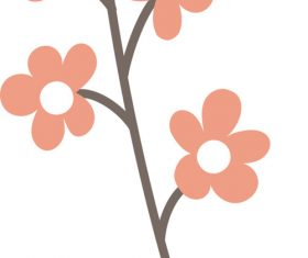Hand drawn Flower vectors material