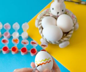 Hand painted Easter eggs Stock Photo 01