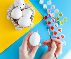 Hand painted Easter eggs Stock Photo 03