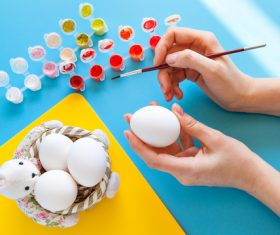 Hand painted Easter eggs Stock Photo 04