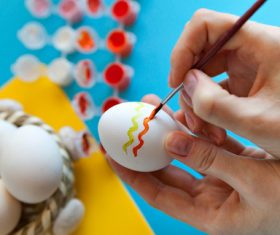 Hand painted Easter eggs Stock Photo 05