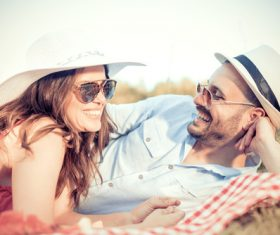 Happy middle aged couple outing Stock Photo