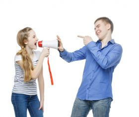 Happy teen boy and girl Stock Photo 01