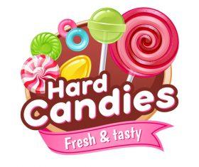 Hard candies labels vectors