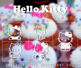 Hello Kitty Photoshop Brushes