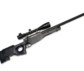 High precision sniper rifle Stock Photo