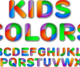 Kids colorful alphaber vector
