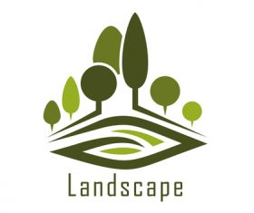 Landscape logos design vector 02