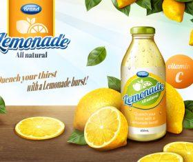 Lemonade poster vector material