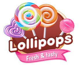 Lollipops labels vectors