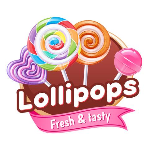 Lollipops labels vectors