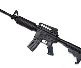 M16 automatic rifle Stock Photo