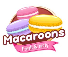Macaroons labels vectors
