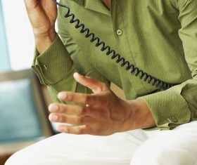 Man calling Stock Photo