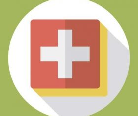 Medical treatment icon vector