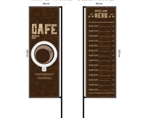 Menu cafe banner flag template vector 03