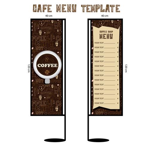 Menu cafe banner flag template vector 04