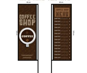 Menu cafe banner flag template vector 05