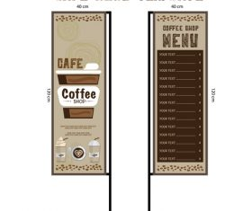 Menu cafe banner flag template vector 06