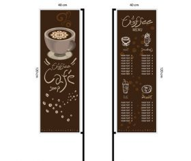 Menu cafe banner flag template vector 09