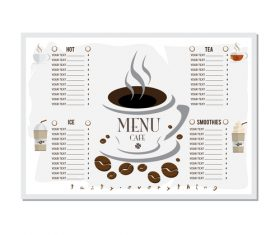 Menu cafe banner flag template vector 12