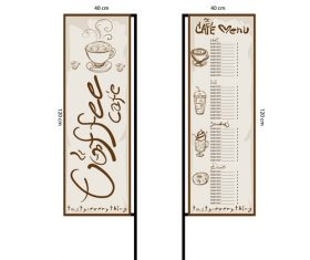 Menu cafe banner flag template vector 14