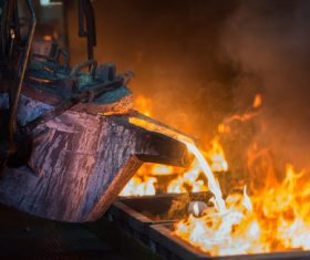 Metallurgical blast furnace Stock Photo 01