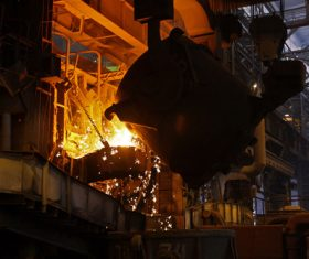 Metallurgical blast furnace Stock Photo 03