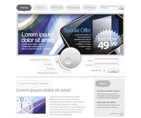 Modern shopping website vector