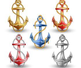 Nautical Anchor illustration design vector 01