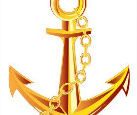 Nautical Anchor illustration design vector 02